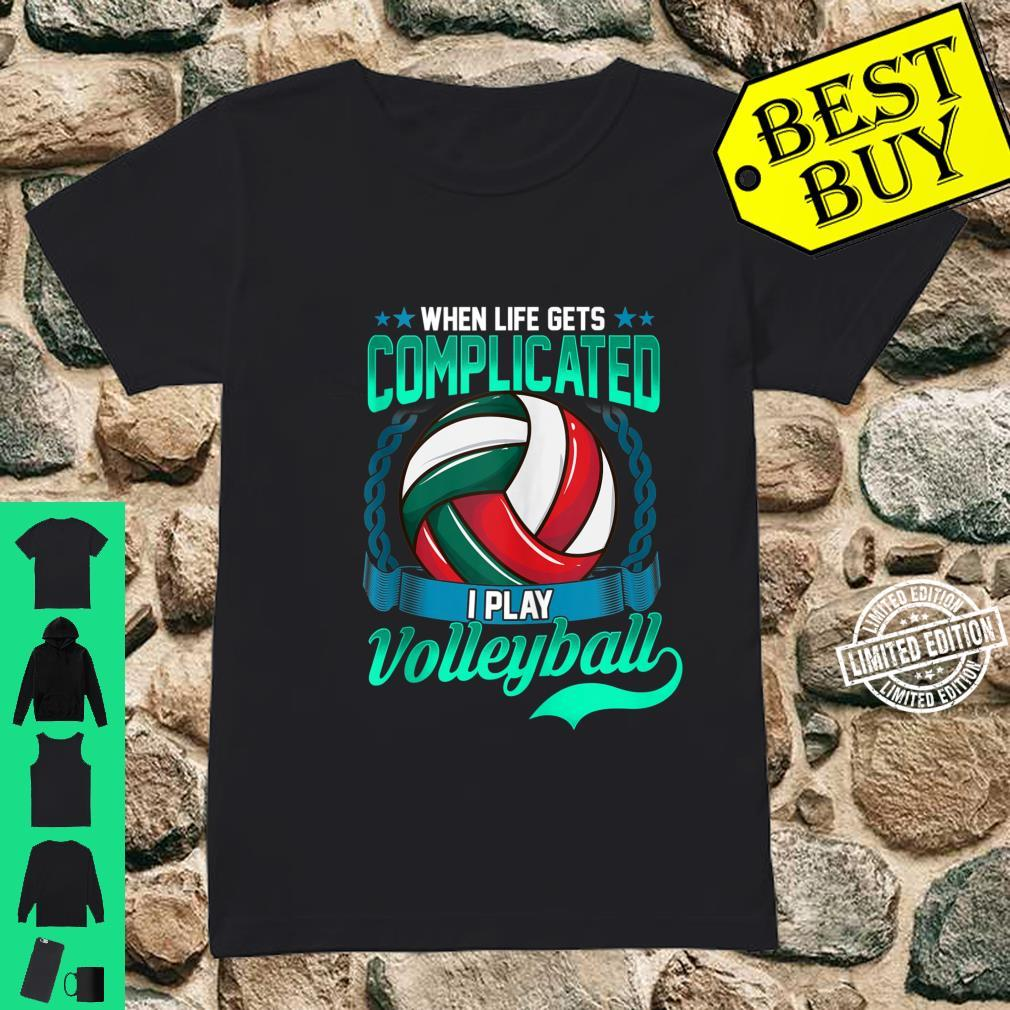 Volleyball Player Saying Sport Shirt ladies tee
