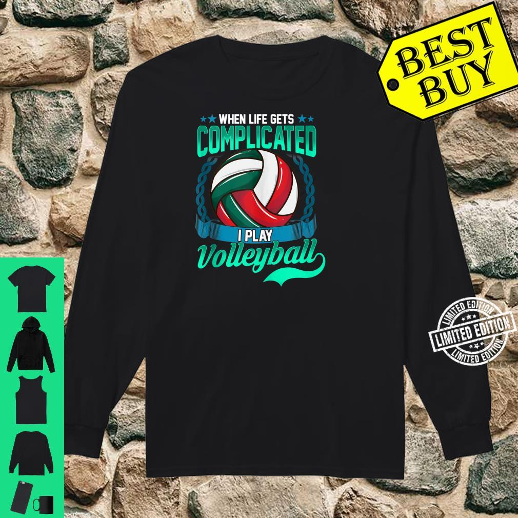 Volleyball Player Saying Sport Shirt long sleeved