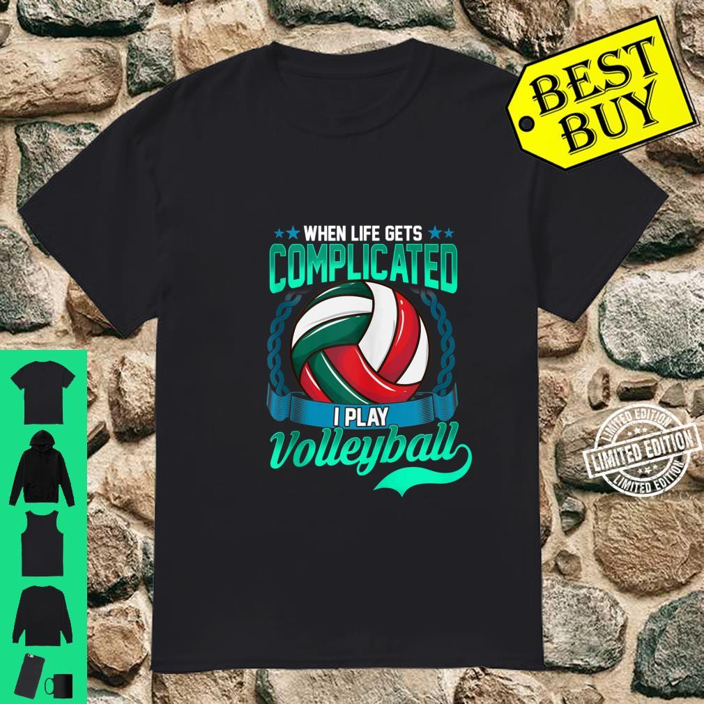 Volleyball Player Saying Sport Shirt