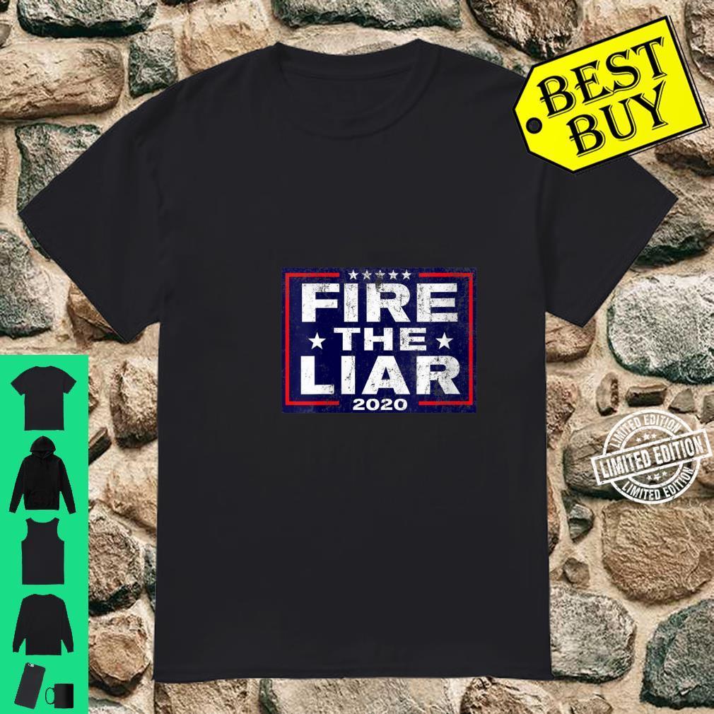 Womens Fire the Liar 2020 Vintage AntiTrump Supporter Shirt