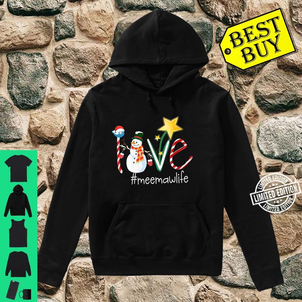 Womens Love Meemaw Life Star Grandma Shirt hoodie