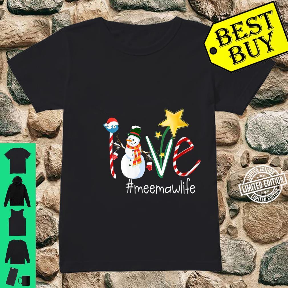 Womens Love Meemaw Life Star Grandma Shirt ladies tee