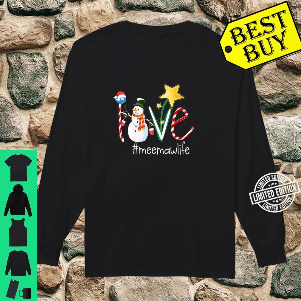 Womens Love Meemaw Life Star Grandma Shirt long sleeved