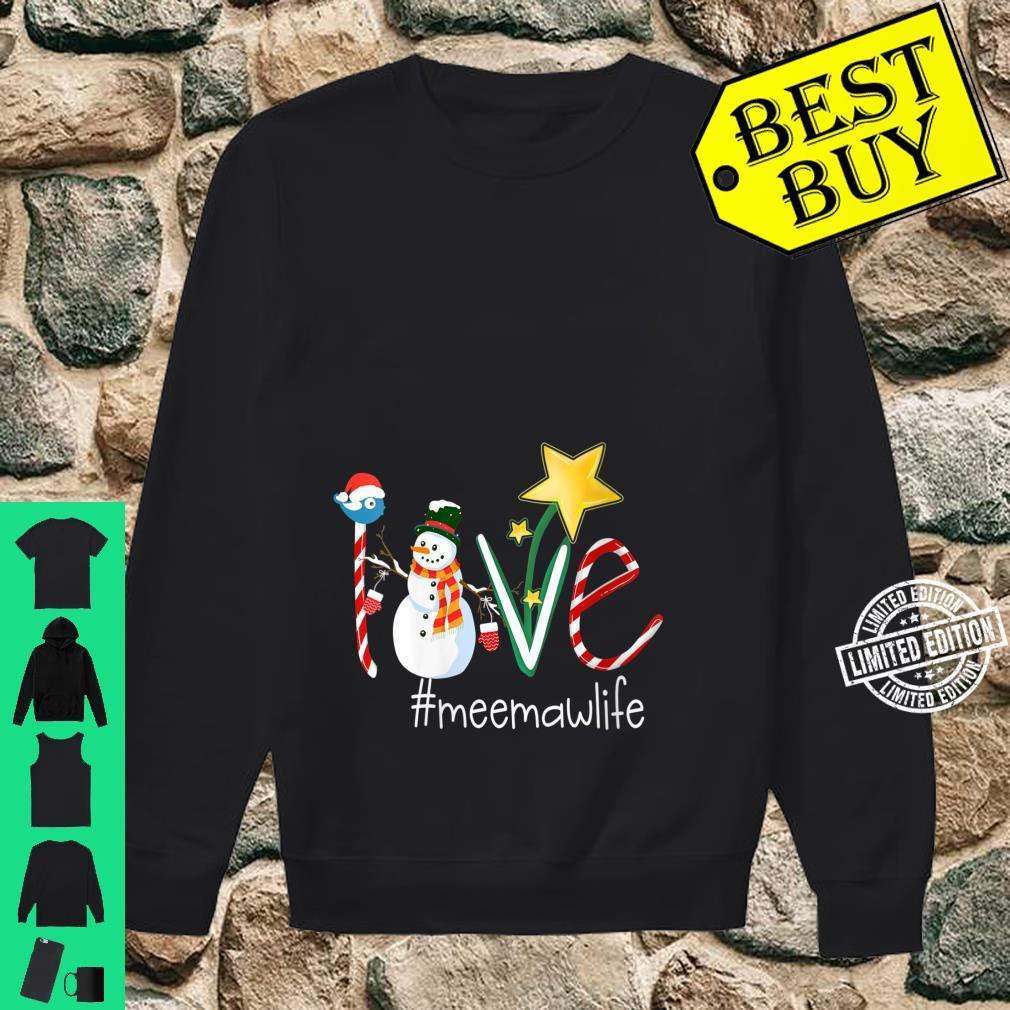 Womens Love Meemaw Life Star Grandma Shirt sweater