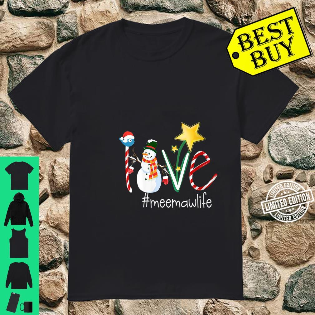 Womens Love Meemaw Life Star Grandma Shirt