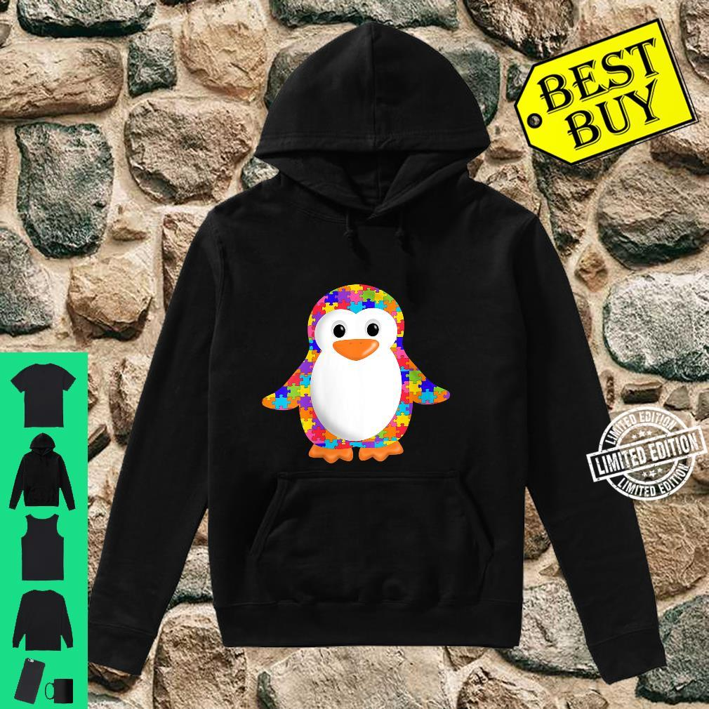 Womens Penguin Jigsaw Autism puzzle Apparel girls and boys Shirt hoodie