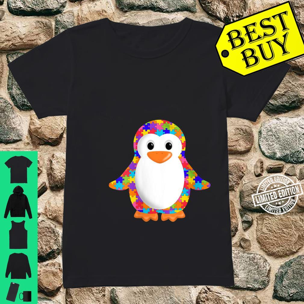 Womens Penguin Jigsaw Autism puzzle Apparel girls and boys Shirt ladies tee
