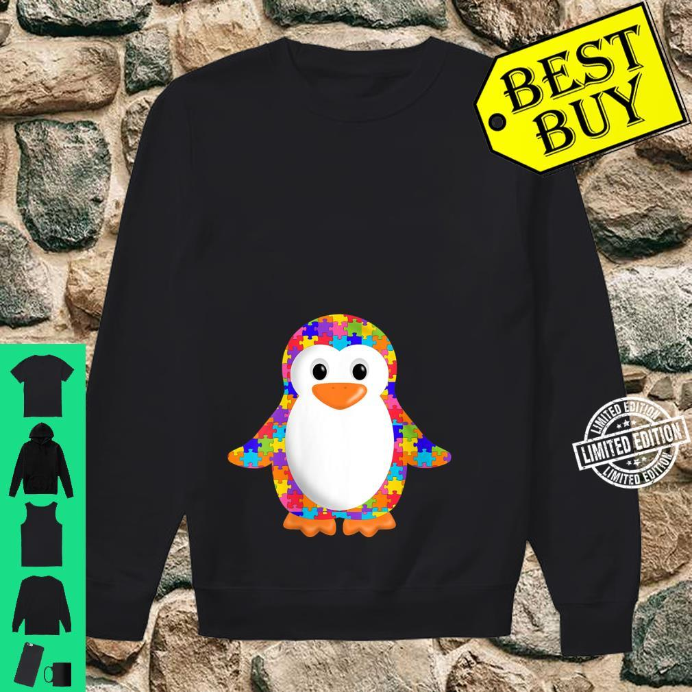 Womens Penguin Jigsaw Autism puzzle Apparel girls and boys Shirt sweater