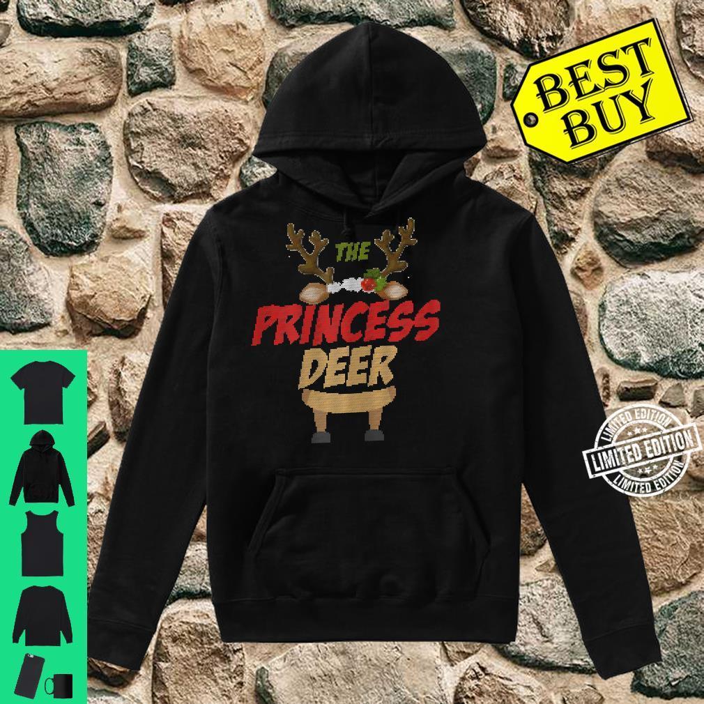 Womens The Princess Deer Ugly Christmas Family Matching Group Shirt hoodie