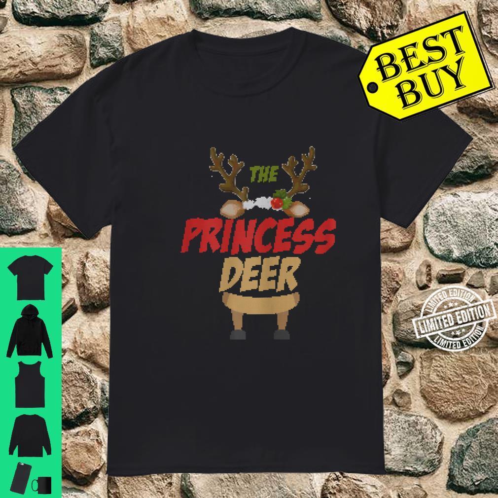 Womens The Princess Deer Ugly Christmas Family Matching Group Shirt