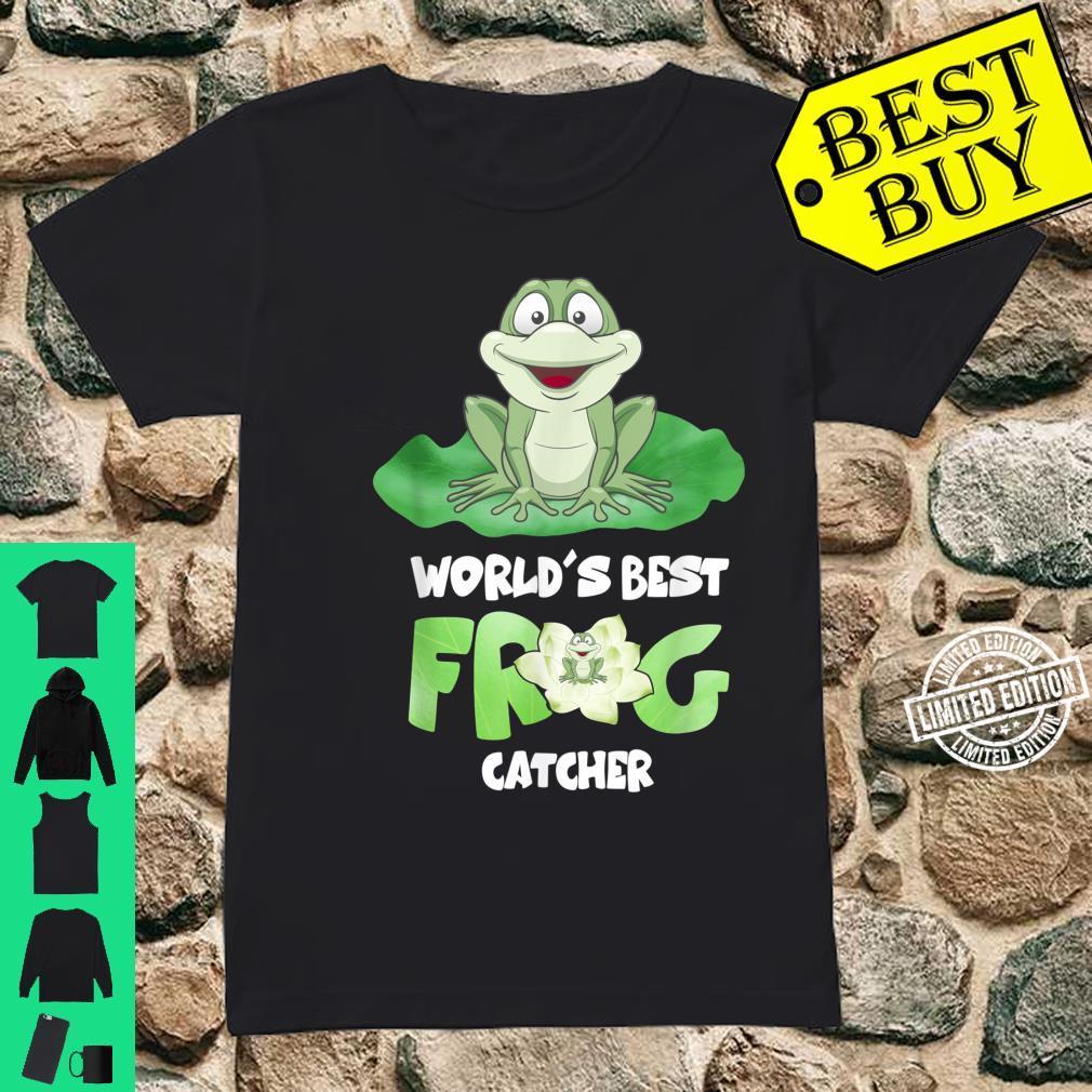 World's Best Frog Catcher Boys Girls Frog Hunter Shirt ladies tee