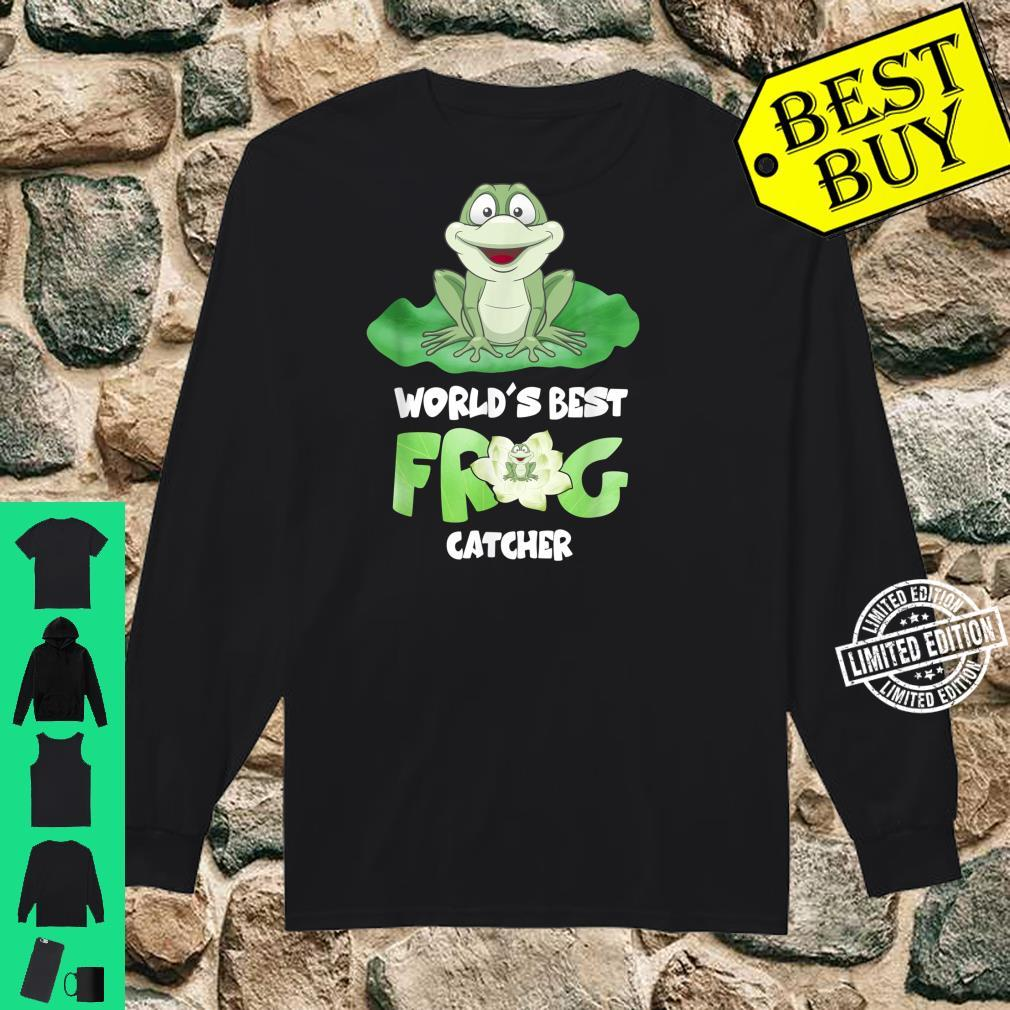 World's Best Frog Catcher Boys Girls Frog Hunter Shirt long sleeved