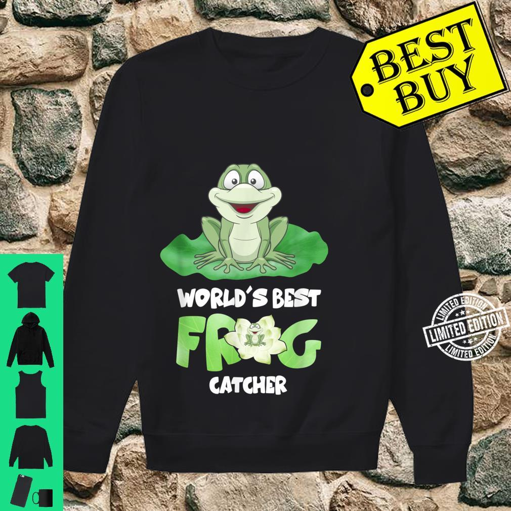 World's Best Frog Catcher Boys Girls Frog Hunter Shirt sweater