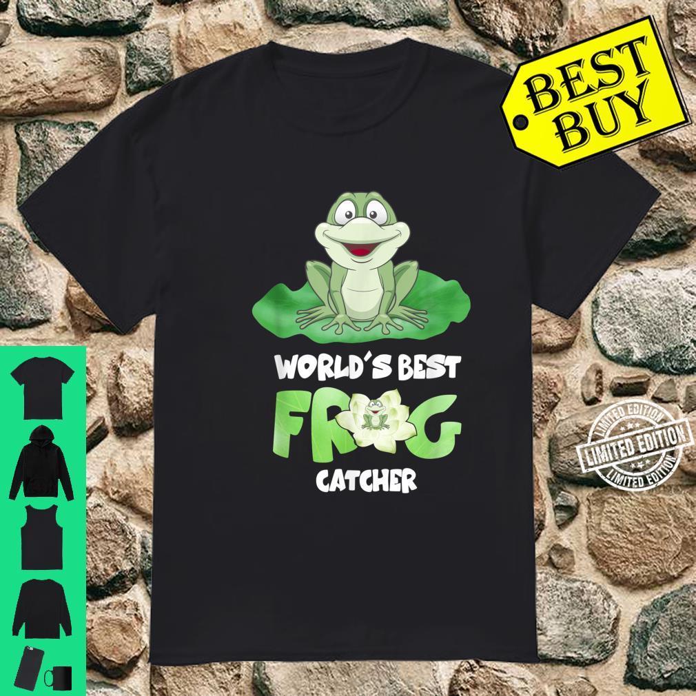 World's Best Frog Catcher Boys Girls Frog Hunter Shirt